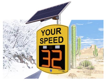 radar speed sign solar