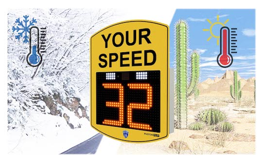 weather resistant radar speed signs